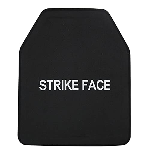 AR500 Level 3 Set of Curved 10x12 Chest Plates Shooter's Cut Protective Vest Trauma Pad Plates Black