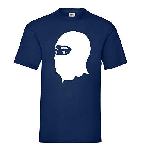 Generisch Pasamontañas Hombre Camiseta - shirt84 - Azul Marino, XXL