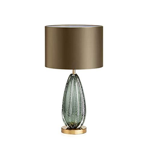 XLOO Lámparas de Mesita,Lámpara de Mesa,Esmalte de Color,Pantalla Dorada,para el Estudio de la Oficina de la Sala de Estar del Dormitorio