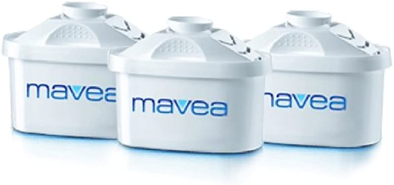 Mavea 1001122 Maxtra Replacement Filter For Mavea Water Filtration Pitcher Pack Of 3 1001277 White
