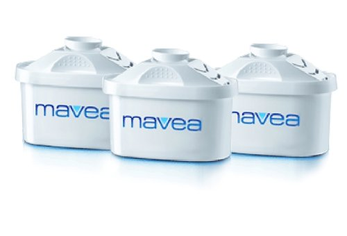 Mavea 1001122 Maxtra Replacement Filter for Mavea Water Filtration Pitcher - Pack of 3 - , White