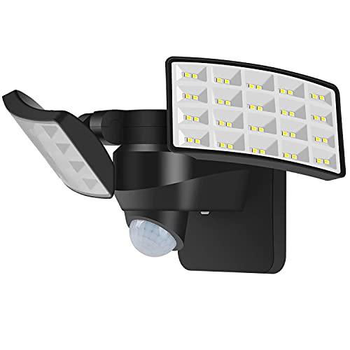 Luowan 20W LED exterior con Sensor de Movimiento, 2400LM Foco Proyector LED IP65 Impermeable LED Seguridad Floodlight, Exterior Aplique Lampara 5000K para Terraza, Jardín, Patio, Parque, Garaje
