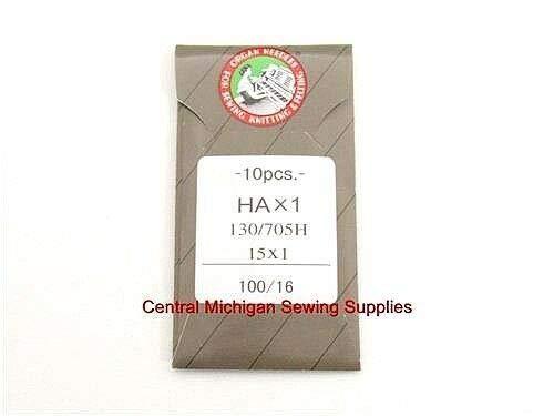 Best Buy! MACOSKI Supplies for Flat Shank Organ Needles Pack of Ten 15X1 Size 16 100/16 130/705H Sin...