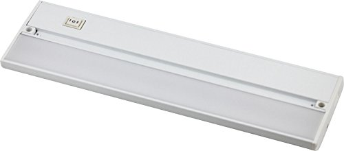 "14"" White 120v Under Cabinet LED 320 Lumen Light Hard Wire Linkable with Knock Outs Contractor Electrician Grade ETL -- L-6 Series"