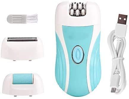 XDHN 3 In 1 Elektrische Epilator Voeten Heel Callus Remover, Usb Oplaadbare Haar Scheren Razor Lady Shaver, Onder Arm Bikini Been Depilator, Paars, Bruin