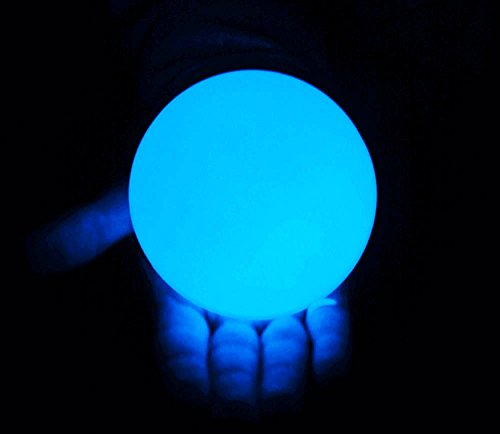 DSJUGGLING Clear UV Acrylic Contact Juggling Ball - 76mm (Appx. 3 inch) Glowing Blue Color Under UV...