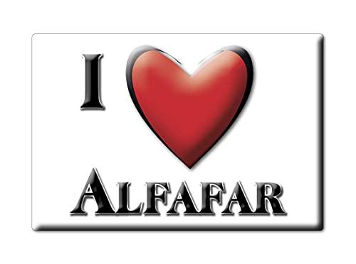 Enjoymagnets ALFAFAR (V) CALAMITA Magnete Spagna Souvenir I Love Idea Regalo