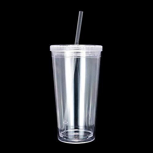 Acrylic Coffee Mug - Clear, 500ML