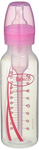 Dr. Brown's Options - Biberón estándar, 250 ml, color rosa
