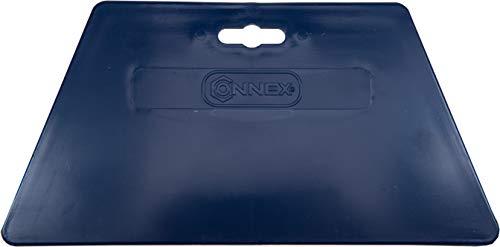 Connex Tapezierspachtel 220 x 120 mm - Blau - Zum Andrücken & Glätten von Tapeten - Aus robustem Kunststoff / Tapetenglätter / Andrückspachtel / Tapezierzubehör / COX883280
