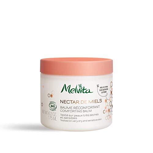 Melvita - Baume Corps Certifié Bio Nectar de Miels - Apaise et Répare la peau - Formule naturelle à 99% et Certifié Bio