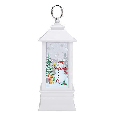 Lámpara de candelabro de buena ductilidad, luz de candelabro, caja fuerte de alta calidad para decoración de ventana de sala de estar de dormitorio colgante de árbol(Large snowman)