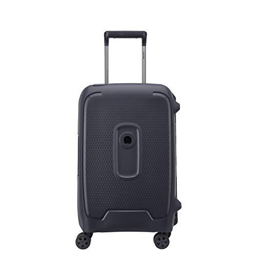 DELSEY デルセー スーツケース ハード キャリーケース キャリーバッグ 機内持ち込み sサイズ/中型mサイズ/大型lサイズ PP素材 超軽量 TSAロック 8輪キャスター 静音 MONCEY 修学旅行 5年国際保証 (アンスラサイト/45L)