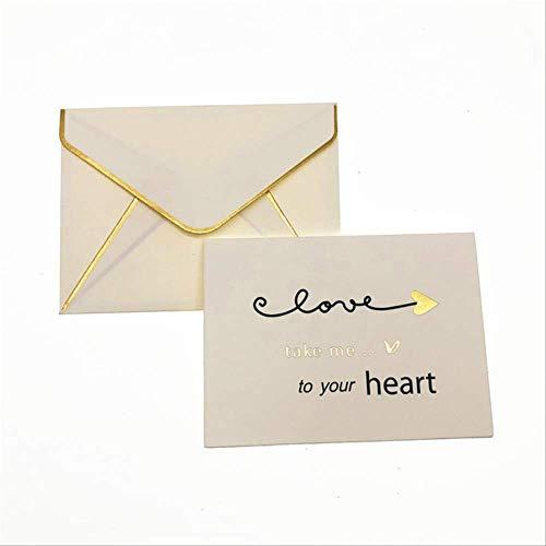Wenskaarten BLTLYX 8st Verjaardag Kind Huidige Kaart Handgemaakte Verjaardagskaarten Uitnodiging Enveloppen Cadeau Wenskaarten Babyborrel Mooie Kaarten 9.5 * 7cm neem me naar hart