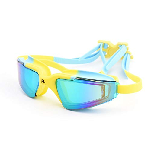 Zwembrillen | Zwembril voor Mannen Vrouwen Volwassenen - Beste Niet-lekken Anti-Fog UV Bescherming Heldere Visie Downloaden Blauw 1