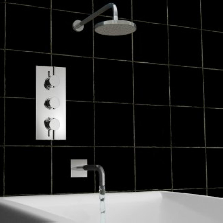 Concealed Bath Shower Thermostatic Mixer Round Spout Set