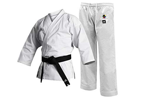 adidas Herren Uniform-8oz Martial Arts Gi WKF Club Karate-Uniform – 236 ml Kampfsport-Studenten, weiß, 170 cm