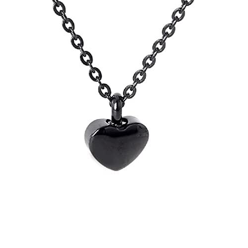 Guanweun Collar de urna de cremación de corazón para cenizas, colgante de urna para cenizas