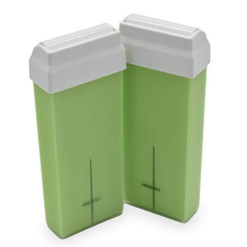 takestop® Set 2 Pezzi Ricarica Cera Depilatoria Rullo 100 ml Olio Argan