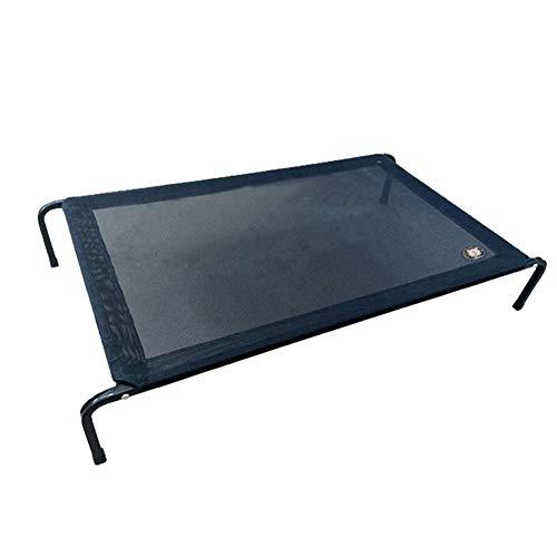 Cama elevada para mascotas Amadon con tela de malla y marco de acero para interiores y exteriores, transpirable, desmontar para mascotas M 35.4x23.6x5.9 inch