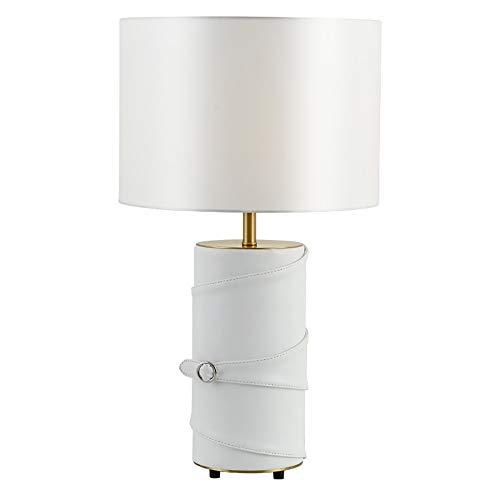 Hogreat Smart led Lámpara posmoderna Arte Cuero mesita de Noche lámpara Creativa Sala de Estar Dormitorio Estudio Simple Moderno lámpara de Mesa de Lujo 38 * 62,5 cm