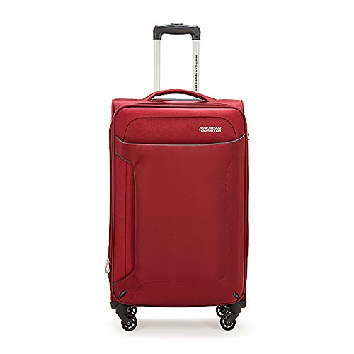 YASB Extension Carry on Luggage Sets, Men And Women Boarding Case, Universal Wheel, Large Capacity, Waterproof And Wear-Resistant,Red,S