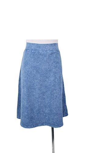 KIKI RIKI Adult Denim Wash Pencil Skirt Light Blue Small