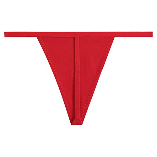 ZZNVS Simple algodón Thong Thong Ropa Interior sin Fisuras Ropa Interior Sexy Ropa Interior para Mujer Tanga de Cintura Baja Tentación Sexy (Color : Red, Size : Large)