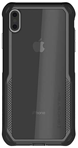 Ghostek Cloak Clear Grip iPhone Xs Max Case with Super Slim Shock Absorbing Bumper Ultra Tough Cover Heavy Duty Protection and Wireless Charging Compatible for 2018 iPhone Xs Max (6.5 Inch) - (Black)