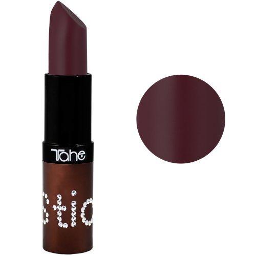 Tahe Shiny Lippenstift verziert mit Strasssteinen Nummer 127, mattes Dunkellila, 4,2 g