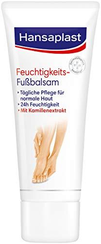 Hansaplast Feuchtigkeitsspendender Fußbalsam für die tägliche Fußpflege trockener Haut, Fußcreme für geschmeidige und schöne Füße, 75 ml