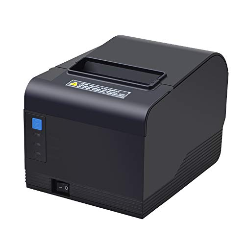 80mm Printer 3'1/8 Thermal Receipt Printer, USB Serial Ethernet/LAN Port POS Printer with Auto Cutter Support Cash Drawer Wall Hanging, Support Windows System