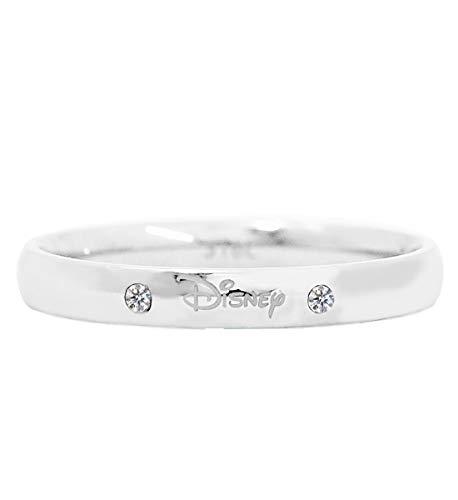 ディズニー リング 指輪 サージカルステンレス 316L 24金加工 スワロフスキー サージカル メンズ 17号 結婚指輪 ペアリング ホワイトゴールド シルバー ステンレス [並行輸入品]