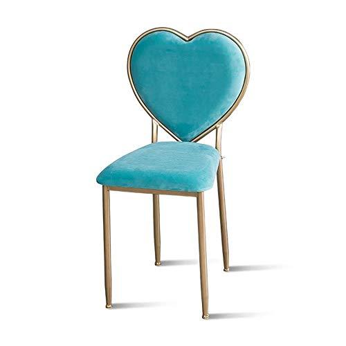 Taburete del dormitorio, sillón colorido de la silla del comedor de la sala de estar de la silla del clavo de la tienda de belleza, 42 * 42 * 85CM (Color : C)