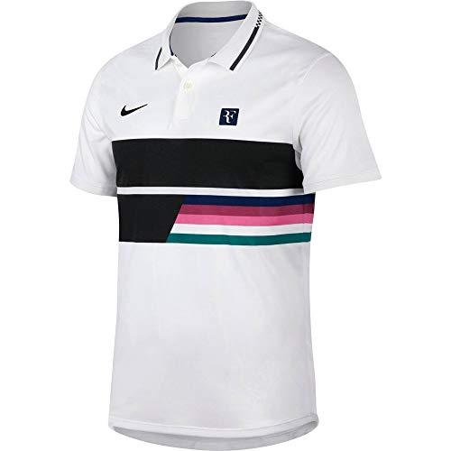 Nike RF M Nkct ADV Clssc, Polo Uomo, White/White/Blue Void/Black, S