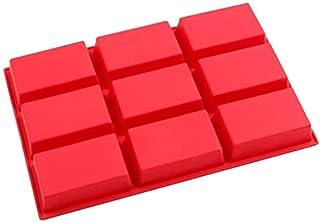 Voarge Silikonowa forma do pieczenia, z 9 prostokątnymi otworami, forma silikonowa do czekolady, ciasta, chleba, ciastek