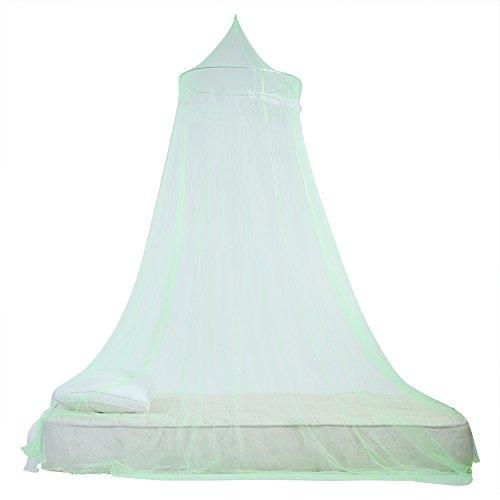 Biancheria da letto elegante della zanzariera della tenda del baldacchino del letto dei bambini di principessa del pizzo per la lettiera della stanza delle ragazze(verde)