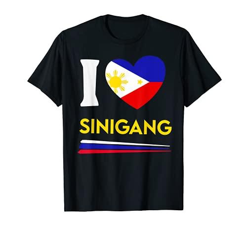 I Love Sinigang Filipino Food Flag Map Pride Philippines T-Shirt