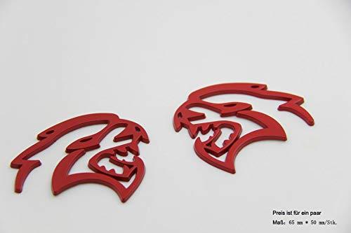 B460 Hellcat SRT Fender Side Leopard Emblem Badge auto aufkleber 3D car Sticker rot