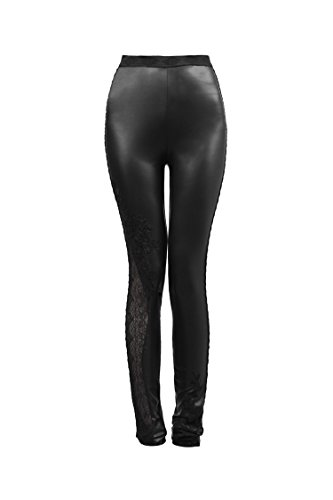 Punk Gothique Melody Punk Leggings Leggins Netz Spitze Lace Gothic