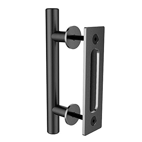 TSMST Maniglia per Porta Scorrevoli Nero Maniglia per Porte in Scorrevoli Legno - 24cm