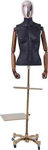 Eurotondisplay Abstract huidkleur in mat zwart gelakt man vrouw galvanisch hoofd handen staande chic vrouwelijke mantel mannelijk mannelijk mannelijk mannelijk Frau DF+8DMG