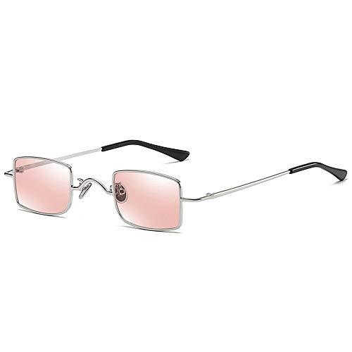 TEYUN Box Mini Retro Gafas de Sol for Hombres y Mujeres (Color : Pink)