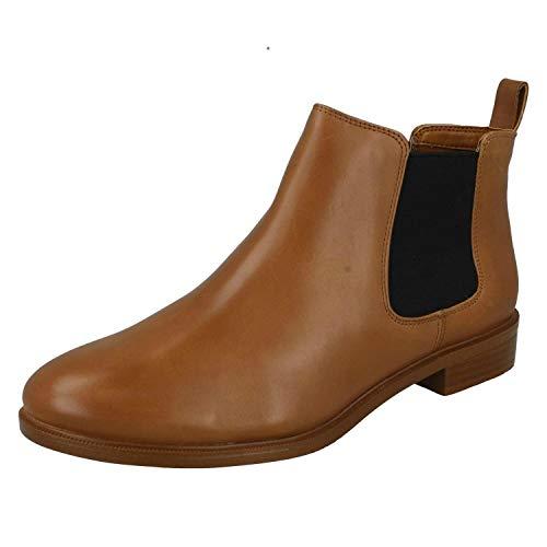 Clarks Taylor Shine, Damen Chelsea Boots, Braun (Tan Leather), 43 EU (9 UK)
