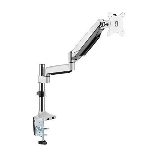 RICOO Gasdruckfeder Monitor Tisch-Halterung Schwenkbar Neigbar Bildschirm-Ständer (TS9111) Universal für 13-30 Zoll (33-76cm) Stand-Fuß, VESA 75x75-100x100
