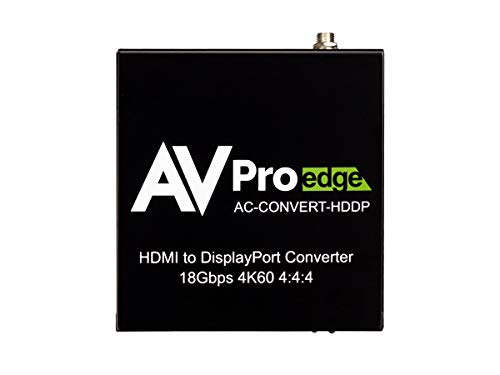 Amazing Deal AVPro Edge AC-Convert-HDDP 4K60 18Gbps 1x2 HDMI to Displayport Converter and Distributi...
