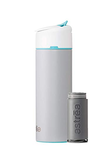 astrea ONE Filtering Water Bottle, Gray with astrea Blue Accent (NSF53 Certified)