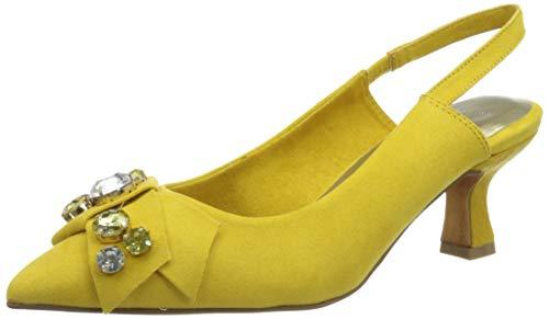 MARCO TOZZI 2-2-29600-26 Damen Sling Pumps, Sandalia con taln Mujer, Amarillo Comb, 39 EU