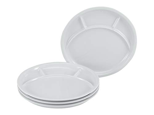 CreaTable, 22922, Serie Grill UNIVERSAL, Gerechten, Fondue Plate 4-delig, Porselein
