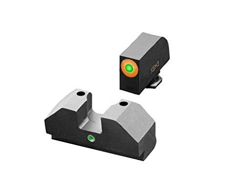 XS Sights F8 Tritium Night Sight Glocks, Large Tritium Front Sight, Fast Acquisition, Wide U-Notch Rear, Easy Alignment, Fits All Glocks (Glock 17, 19, 22, 23, 24, 26, 27, 31, 32, 33, 34, 35, 36, 45)